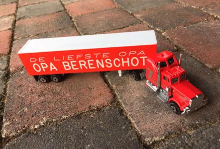 Stoere truck met eigen naam en tekst