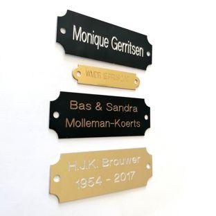 Metalen naamplaat aan je voordeur