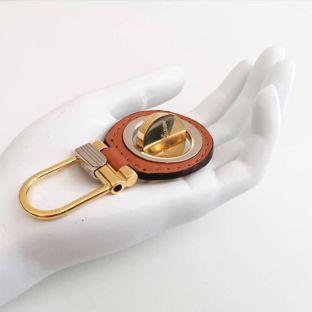 luxe sleutelbos (crhome en goud)