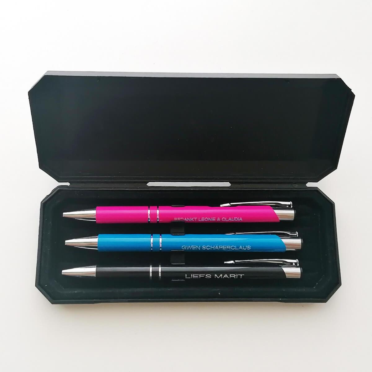 Keuze uit 9 kleuren balpoints of balpennen allen gratus bedrukking