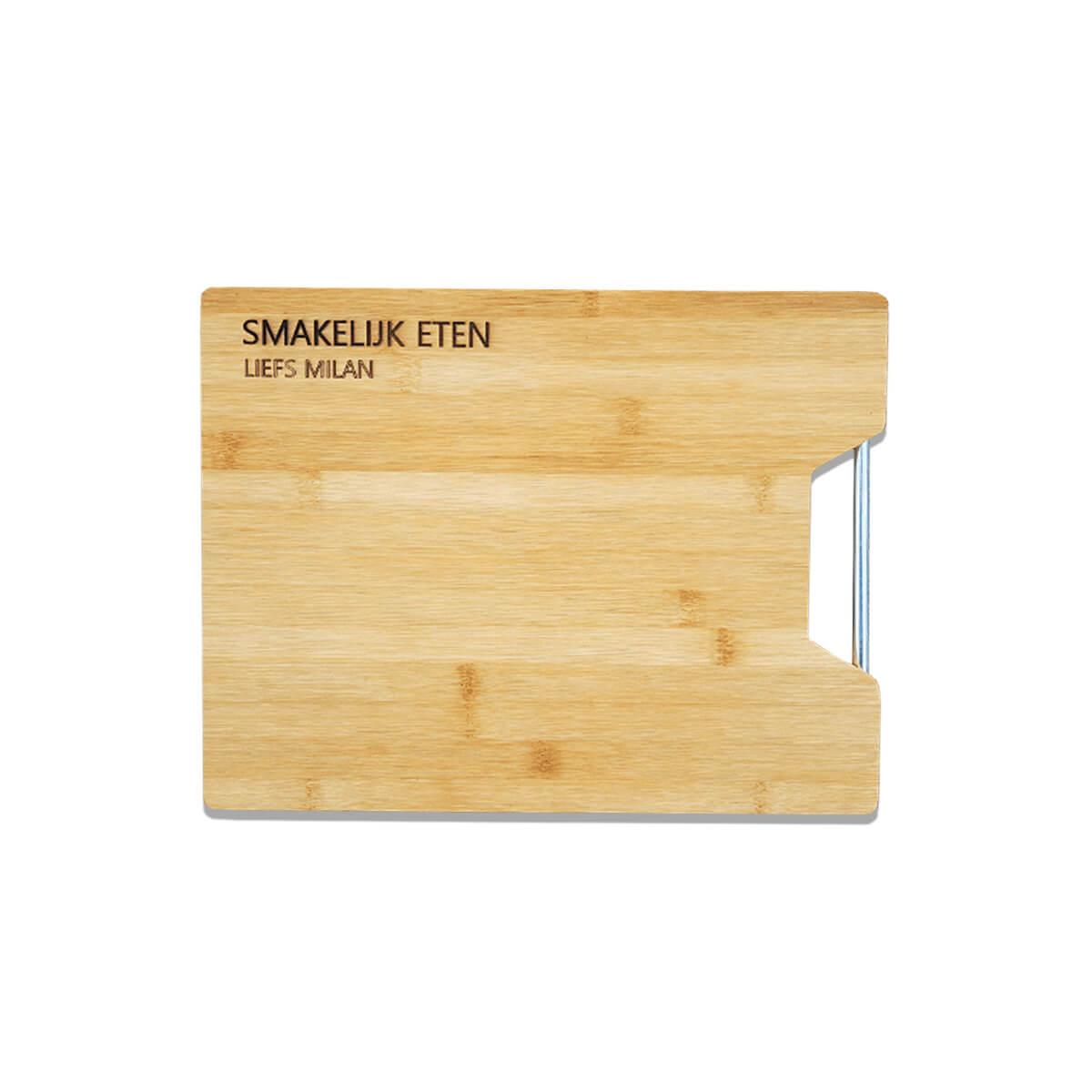 Bamboe houten tapasplank met personalisatie