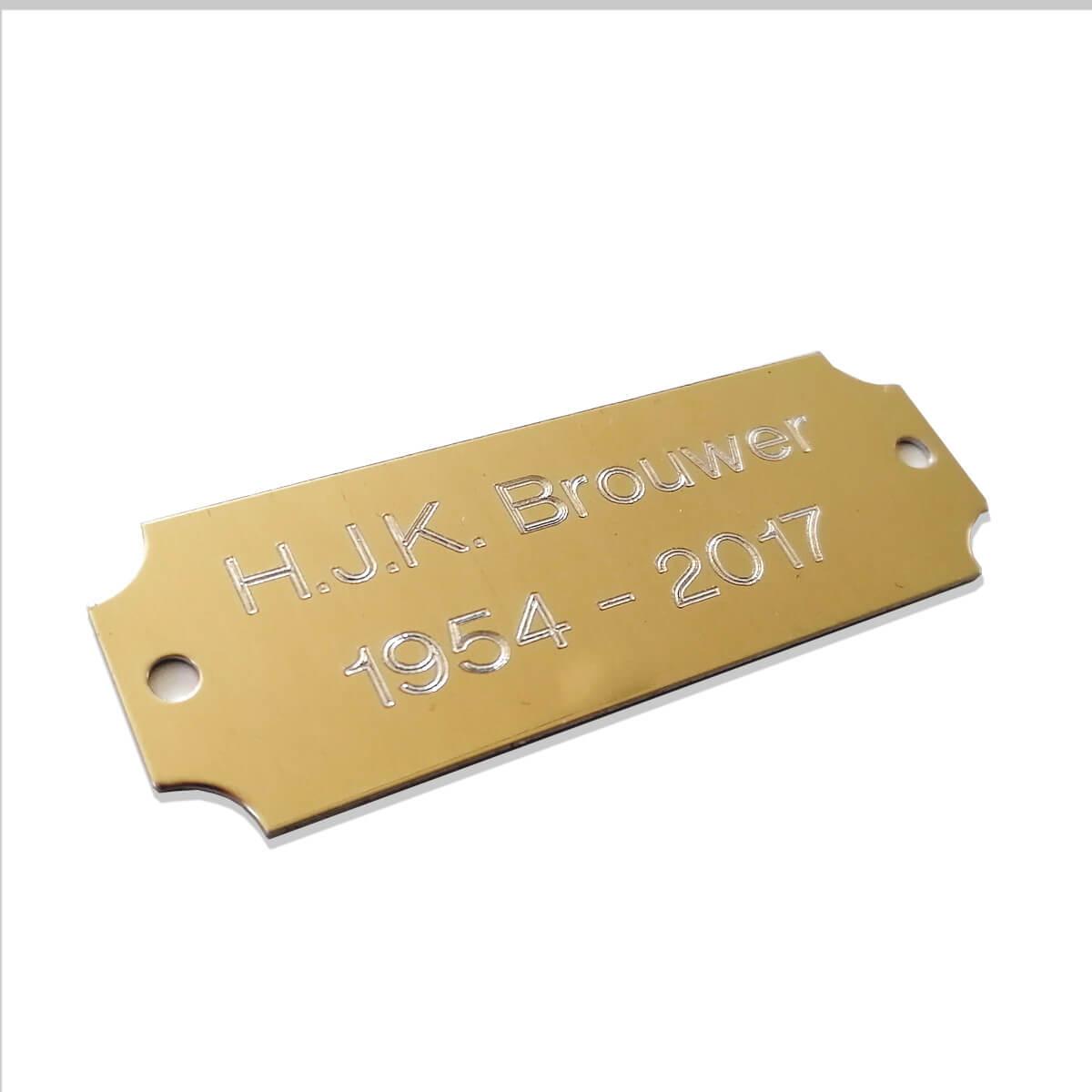 Metalen bordje met eigen bedrukking