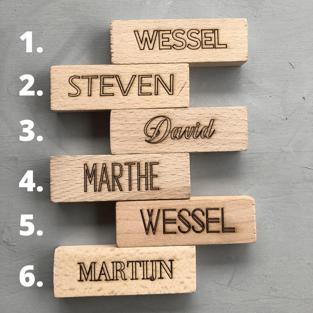 Kies een leuk lettertype voor in hout