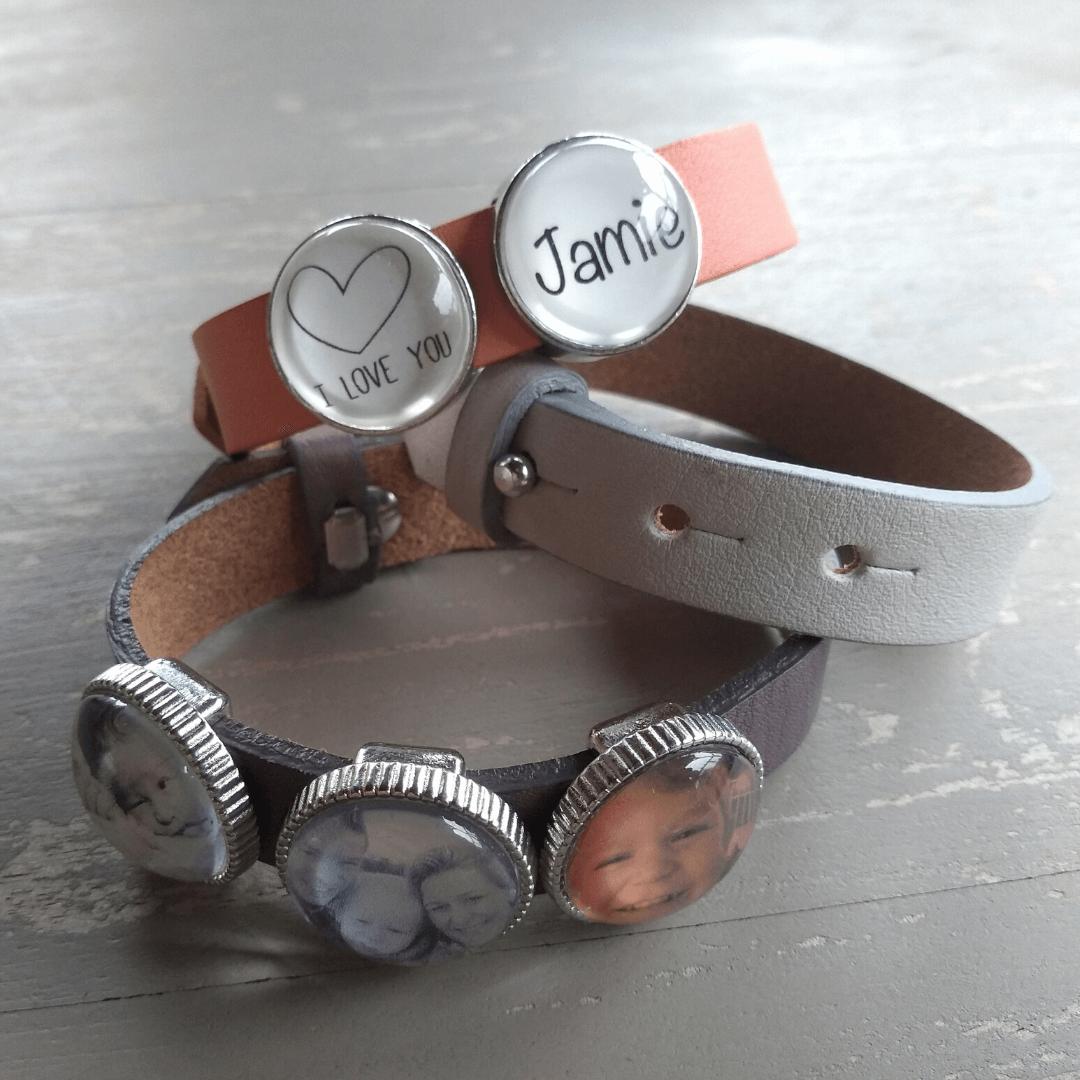 Kleinkinderen foto voor oma armband