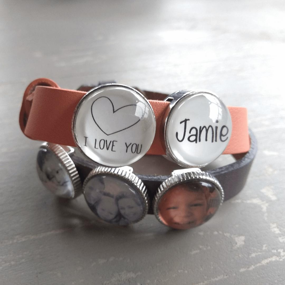 Armband met herinnnerings foto van een dierbare