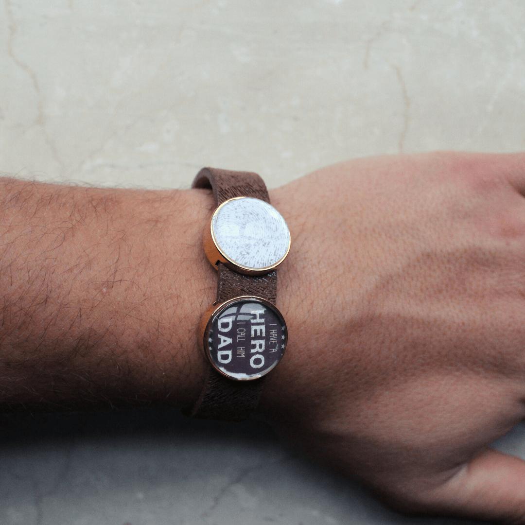 Mooi leren armband met je favoriete tekst of foto