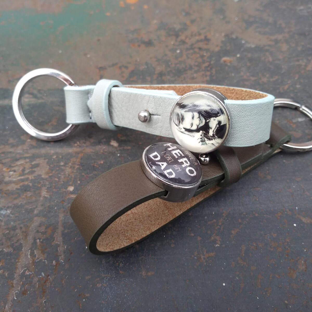 Armband en sleutelhanger met foto bedrukking