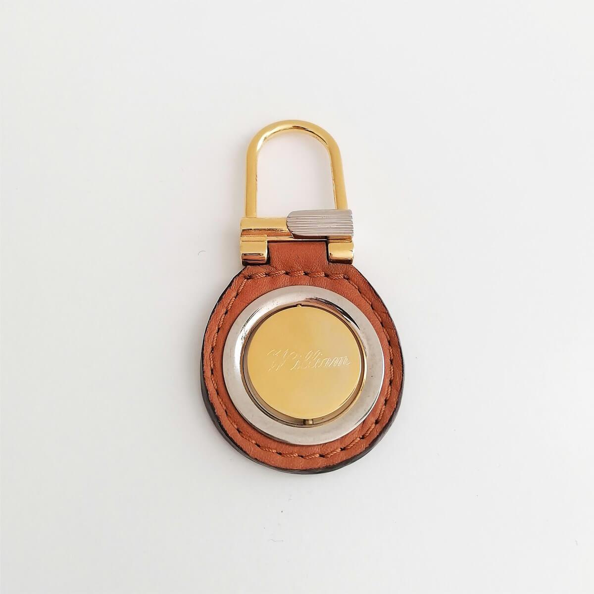 Goud geplatineerde luxe sleutelhanger met naam en/of datum