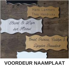 Voordeur-naamplaat