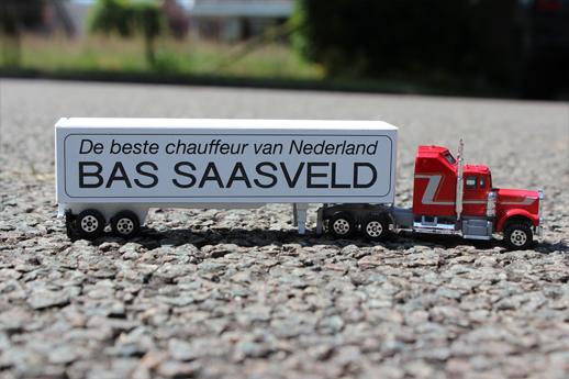 Vrachtwagen met bedrukking