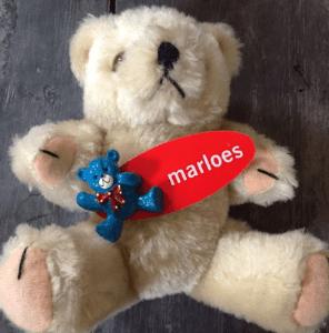 Tekst op een teddybeer