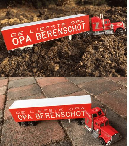 Koop een speelgoed vrachtwagen met naam/namen