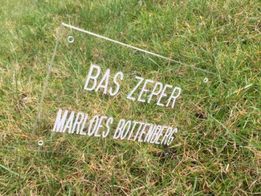Transparante plaat op voordeur met namen | Goedkoop.