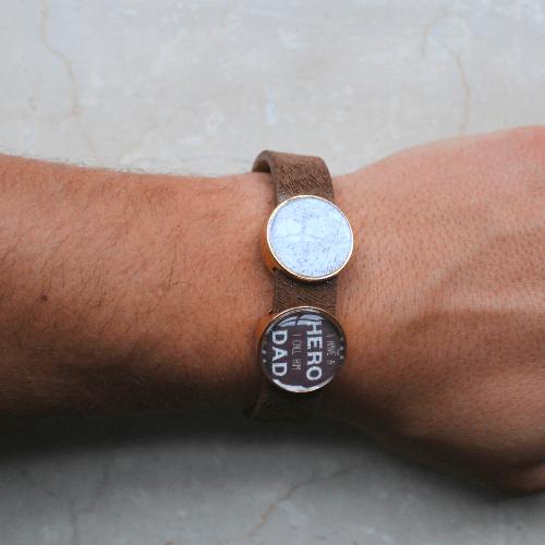 Armband met foto en tekst